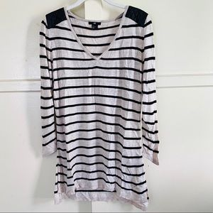 h&m long sleeve striped blouse